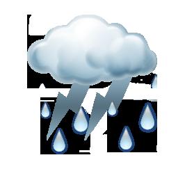 Gökgürültülü sağanak yağışlı