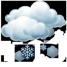 Hafif kar yağışlı