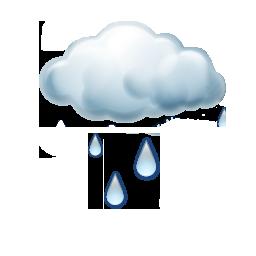 Hafif sağanak yağışlı